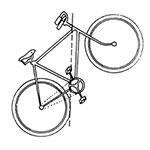 Eje de Gravedad de la Bicicleta