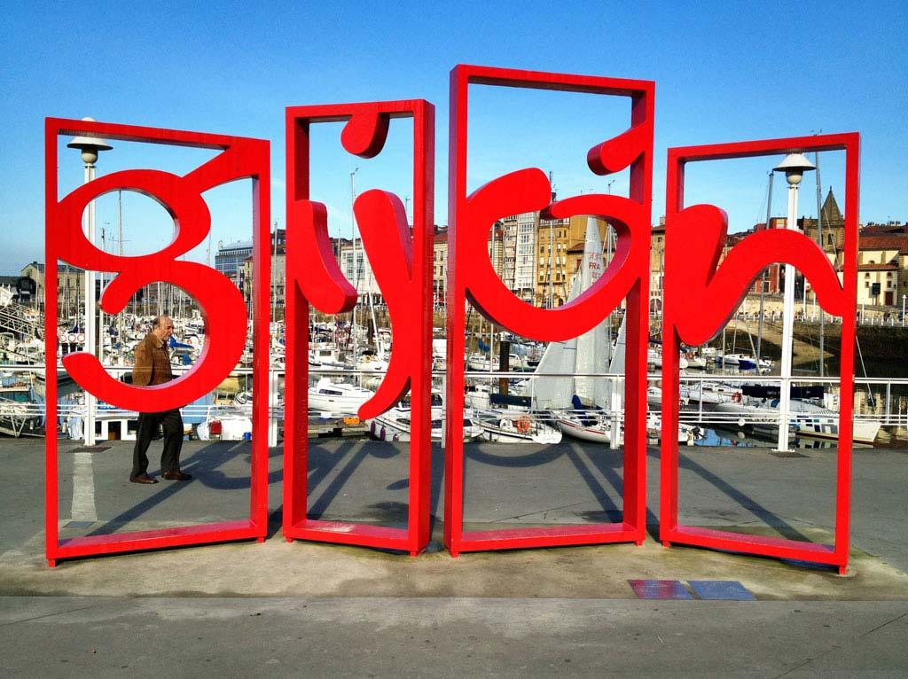 Infografía de la Visita a Gijón