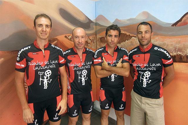 Foto de equipo al final de la ruta