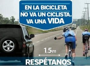 Respeta al ciclista en situaciones de emergencia