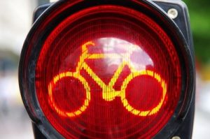 semarofo rojo bicicleta #haztevisible